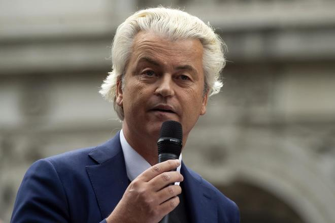 Geert Wilders durante un discurso en Londres.