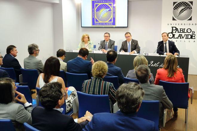 Acto de inauguración de la nueva sede de la UPO en Sevilla.