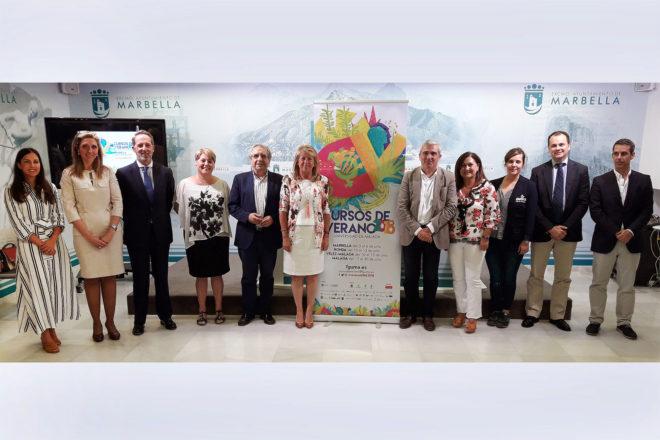 Presentación de los cursos de verano de la Universidad de Málaga en Marbella.