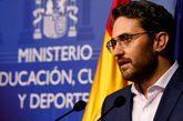Màxim Huerta, durante el anuncio de su dimisión por problemas...