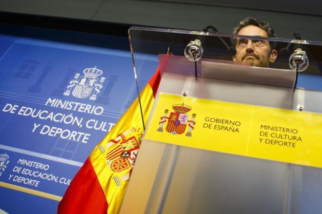 Màxim Huerta, durante el anuncio de su dimisión como ministro de...