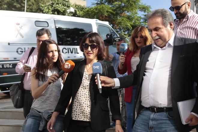 Juana Rivas, llegando al juzgado este jueves.