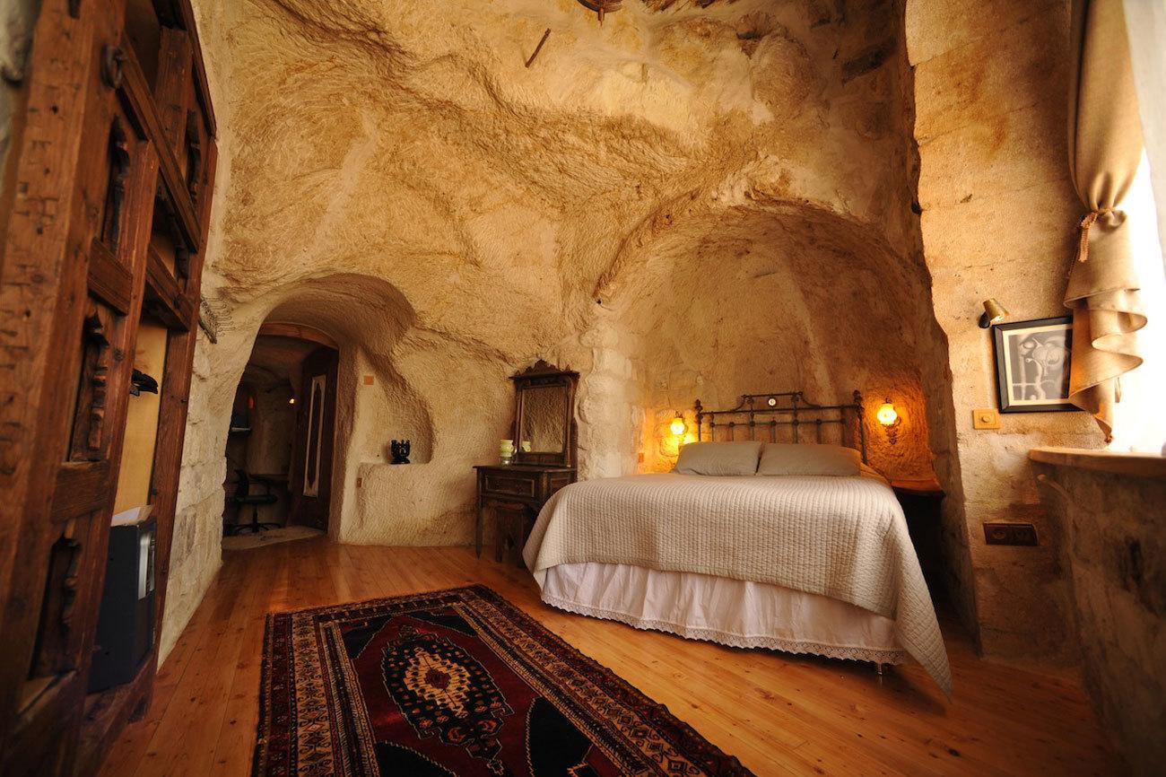 En el corazón de Capadocia, la cueva-casa Anitya es el ejemplo de...
