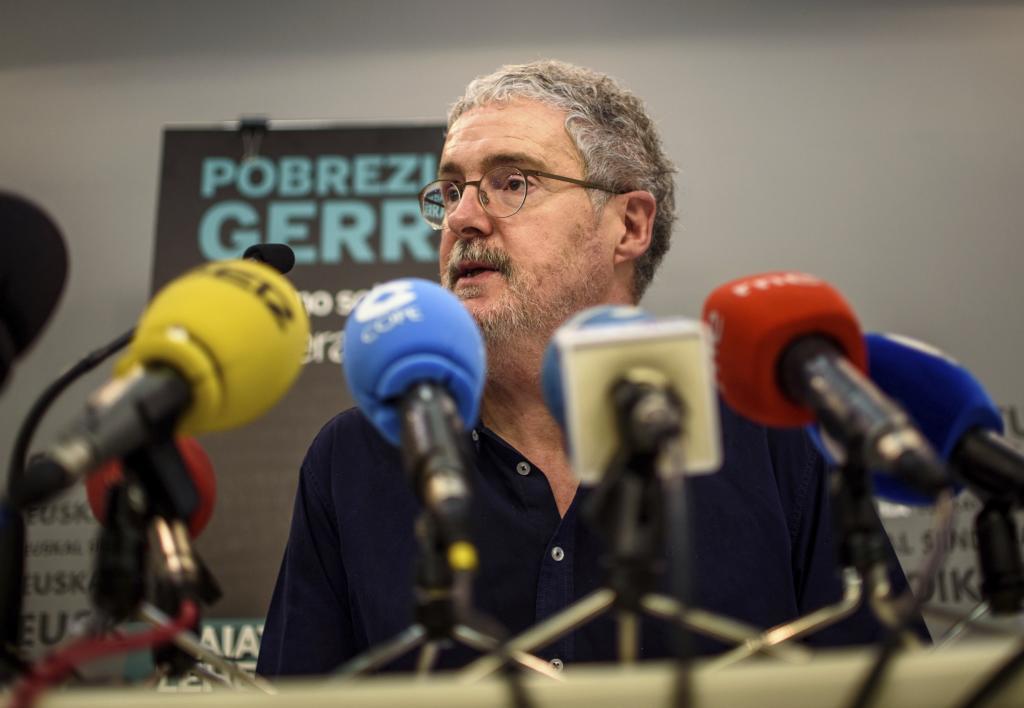 """Adolfo """"Txiki"""" Muñoz, secretario general de ELA."""