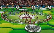 Ceremonia inaugural del Mundial en el Estadio Luzhniki, de Moscú.