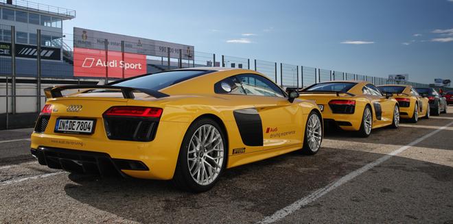 ¿Cuánto cuesta conducir un Audi R8 en un circuito?