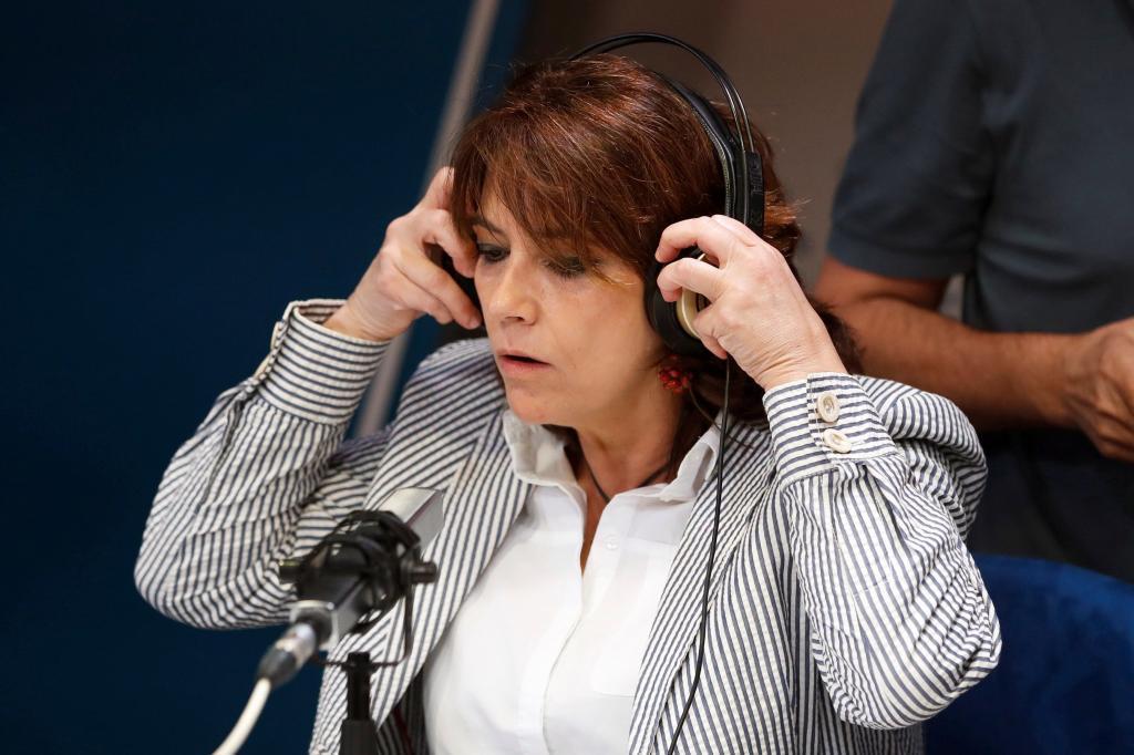 Dolores Delgado, el pasado martes en los estudios de la Cadena Ser...