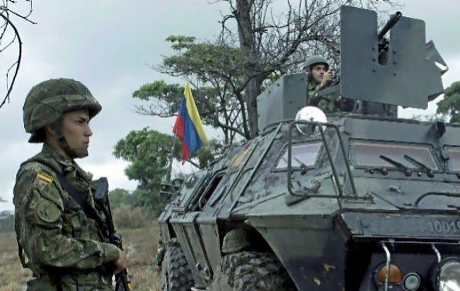 Un soldado colombiano durante una operación militar.