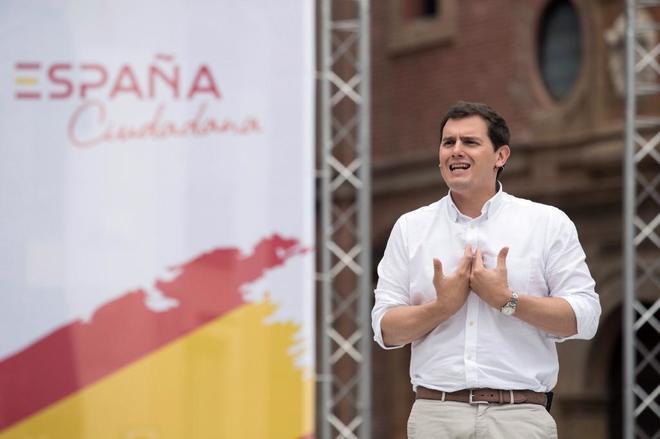 Albert Rivera, durante su participación en el acto de la Plataforma...