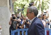 Diego Torres a su llegada a la Audiencia de Palma el pasado miércoles