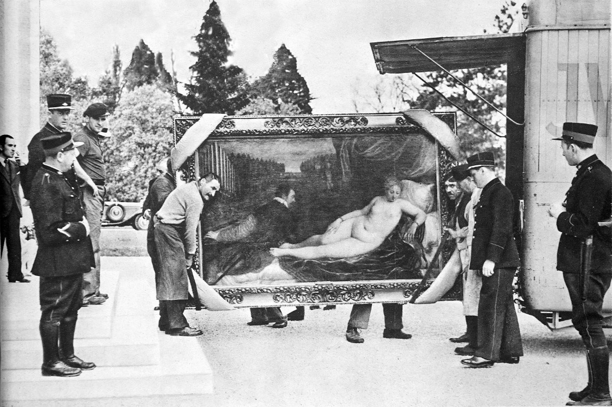 Sťahovanie Tizianovho obrazu Venuša s organistom a psom z múzea del Prado