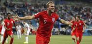 Harry Kane celebra el decisivo gol ante Túnez en el descuento.