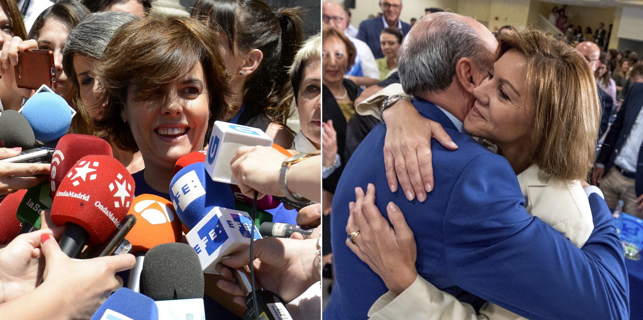 """Soraya Sáenz de Santamaría y Cospedal competirán para suceder a Rajoy """"por el bien del PP y de España"""""""