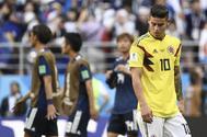 James Rodríguez, al terminar el encuentro de Colombia ante Japón.