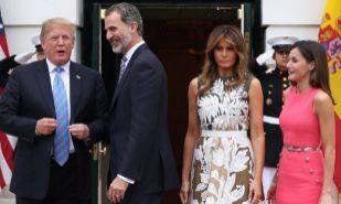 Donald Trump, Felipe VI, Melania Trump y Doña Letizia