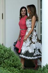 Letizia ha estrenado un vestido rosa de Michael Kors, entallado y sin...