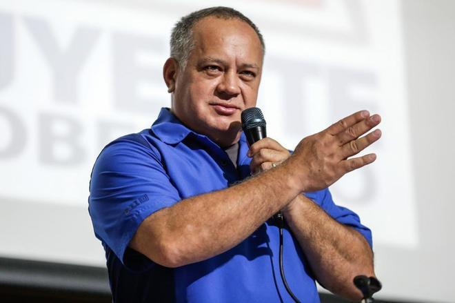 Diosdado Cabello, en una imagen de archivo de 2017 en Caracas.