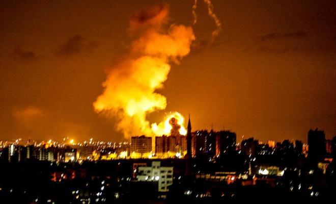 Ataque aéreo contra la Franja de Gaza el pasado mes.