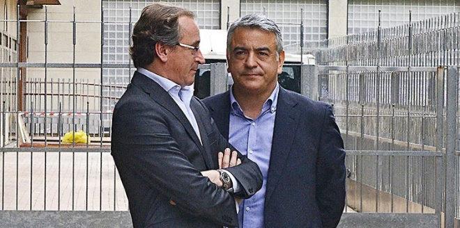Alfonso Alonso junto a Javier de Andrés.