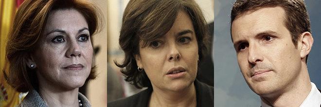 Los candidatos a presidir el PP: María Dolores de Cospedal, Soraya...