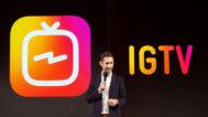 Kevin Systrom presenta IGTV en un evento en Nueva York