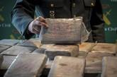 Cargamento de cocaína incautado por la Guardia Civil.