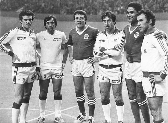 José María García, en el centro, junto a Eusebio o Amancio (derecha), entre otros.