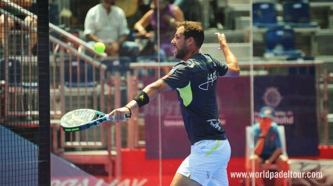 Juan Martín durante los octavos de final del Valladolid Open