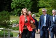 Nadia Calviño, a su llegada este jueves a la cumbre de Luxemburgo.