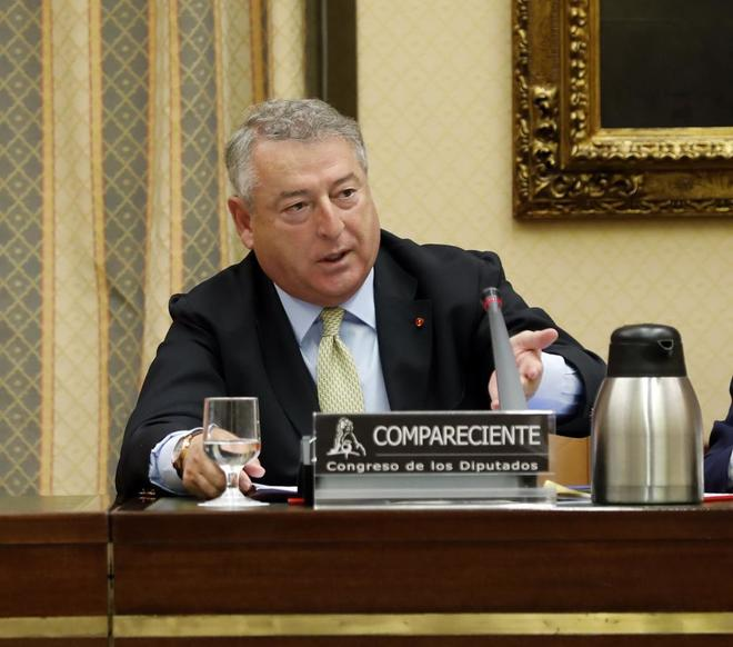 El presidente de RTVE Jose Antonio Sanchez en su comparecencia el pasado mayo en el Congreso de los Diputados.
