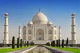 El Taj Mahal, una de las siete maravillas del mundo, forma parte de la...