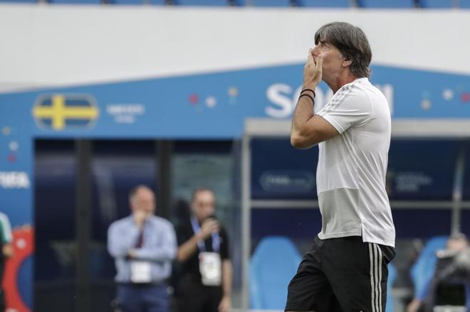 El seleccionador de Alemania, Joachim Low, este viernes en Sochi.