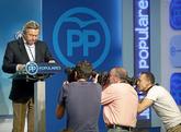 El presidente del Comité Organizador del Congreso del PP, Luis de...