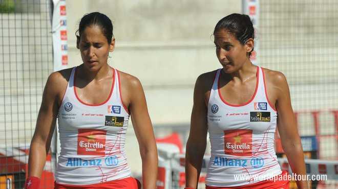 Las hermanas Sánchez-Alayeto, durante el partido de cuartos de final en Valladolid.