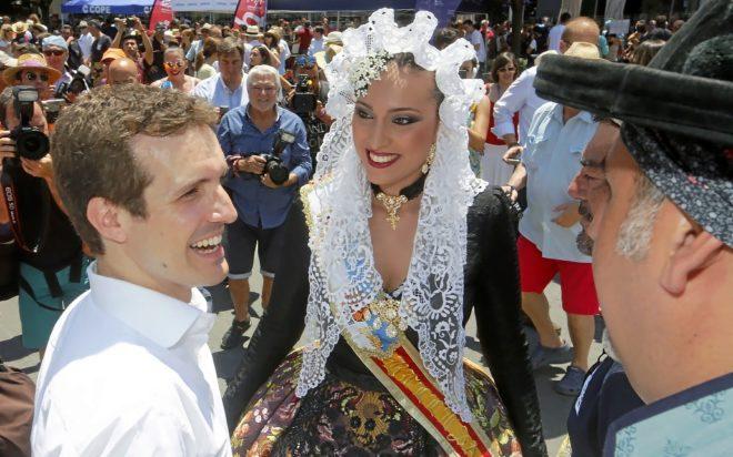 El candidato a la Presidencia del PP, Pablo Casado, este viernes en...