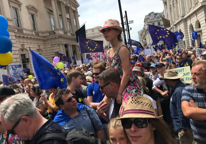 La manifestación anti Brexit por las calles de Londres.