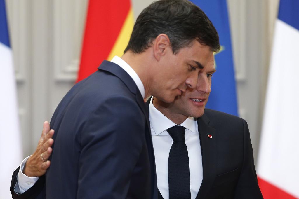 Pedro Sánchez y Emmanuel Macron nos sirvieron ayer un discurso