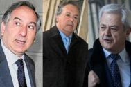 El juez instructor, el principal investigado Tomás Pérez-Sauquillo y el ex consejero investigado Francisco Vallejo.