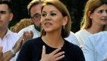 María Dolores de Cospedal, ayer con simpatizantes en Albacete.