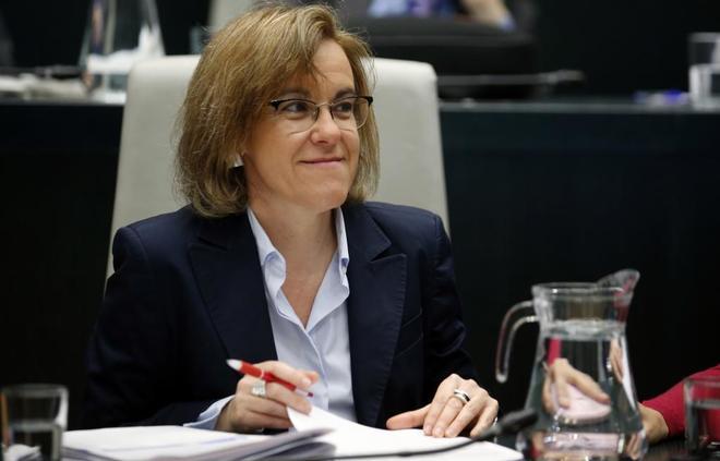 Purificación Causapié, portavoz del PSOE en el Ayuntamiento.