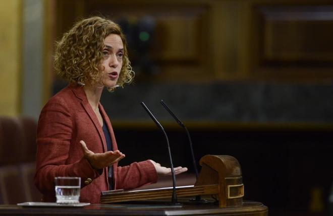 La ministra de Política Territorial, Meritxell Batet, en el Congreso...