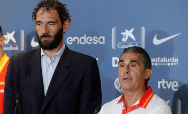 Jorge Garbajosa y Sergio Scariolo, esta semana en Madrid.