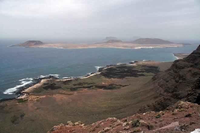Vista de la isla de La Graciosa.