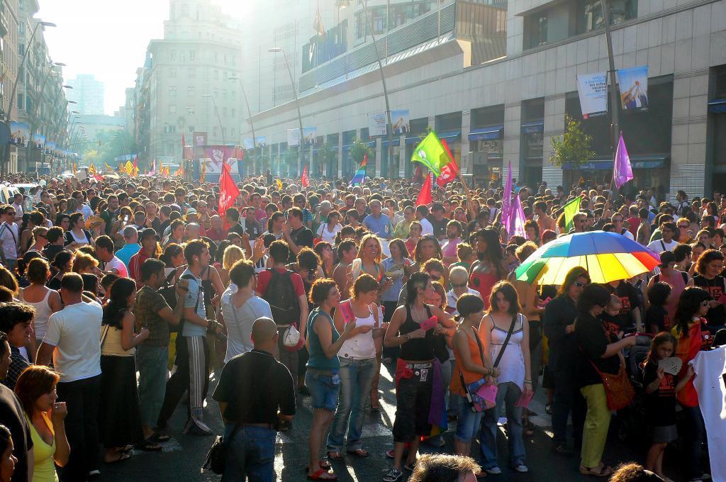 Fiesta en Barcelona con motivo del Orgullo, 2017