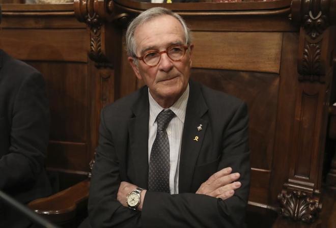 Xavier Trias en el Pleno Municipal del Ayuntamiento de Barcelona.