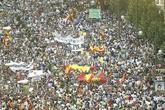 Imagen de la manifestación convocada en 2005 contra la política de...