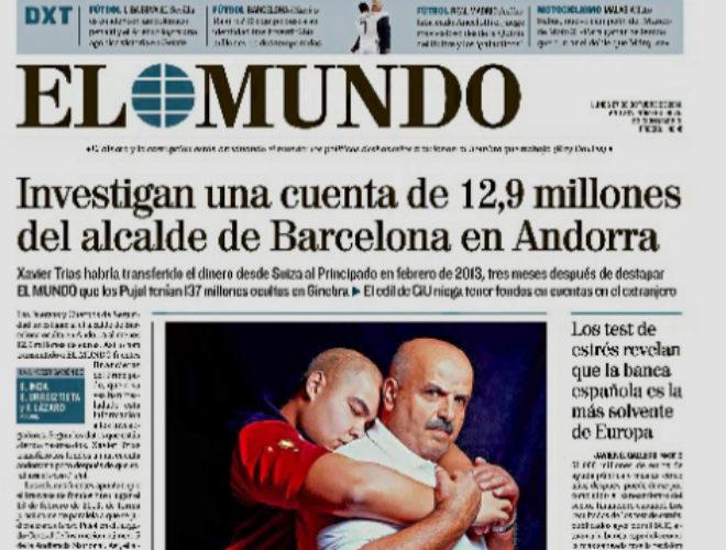 La portada del 27 de octubre de 2014 sobre el 'caso Trias'.