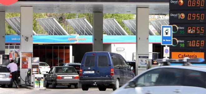 Imagen de archivo de una gasolinera.