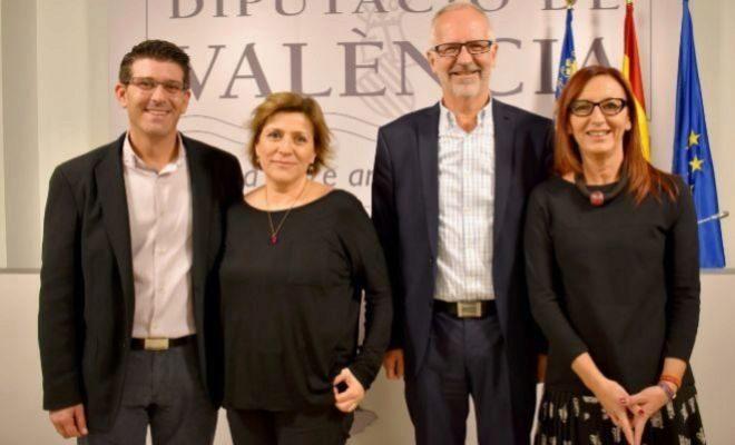 Jorge Rodríguez, Agus Brines, Xavi Simón y Maria Josep Amigó, el día de la presentación del tercero como cogerente de Divalterra.