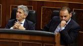 José Luis Ábalos, en el Congreso esta mañana junto al ministro del...